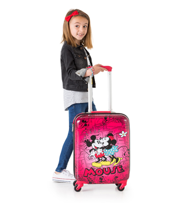 Maleta de cabina rígida Mickey y Minnie Retro Red